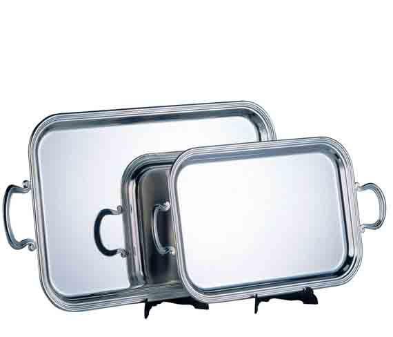 plateau métal argenté silver metal plate