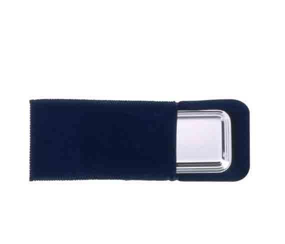pochette suédine suède bleue pour plateaux