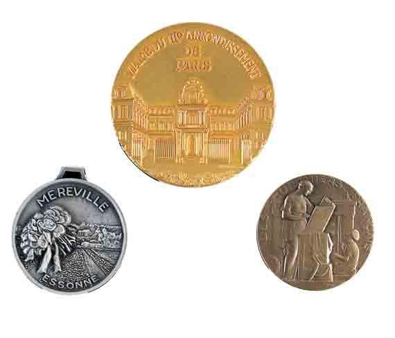 créations de médailles creation of medals