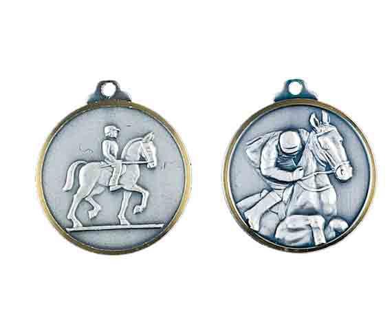 médaille 32mm équitation medal 32mm horse riding