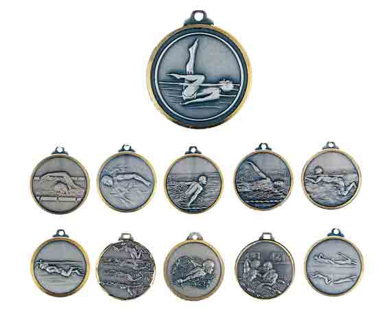 médaille 32mm natation medal 32mm swimming