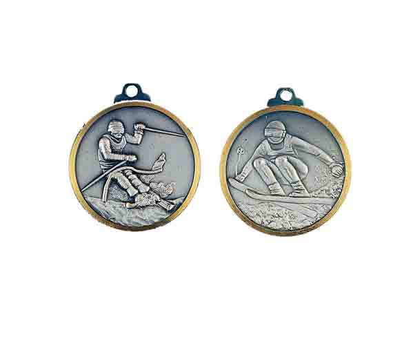 médaille 32mm ski medal 32mm skiing
