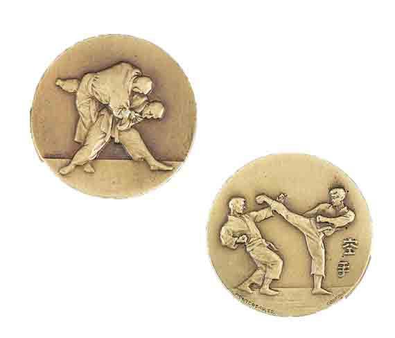 médaille 50mm arts martiaux medal 50mm martial arts