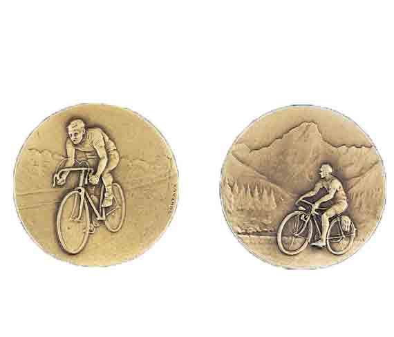 médaille 50mm cyclisme medal 50mm cycling