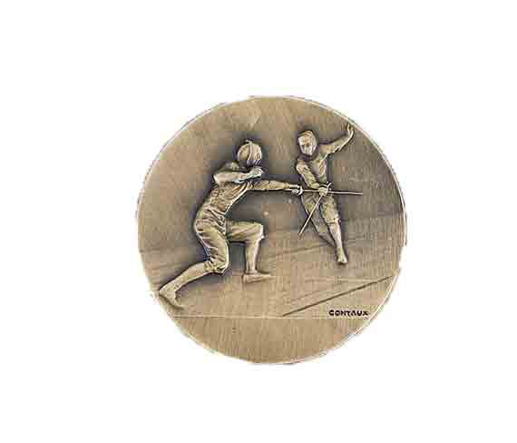 médaille 50mm escrime medal 50mm fencing