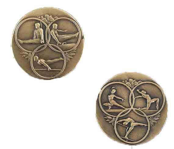 médaille 50mm gymnastique medal 50mm gymnastics