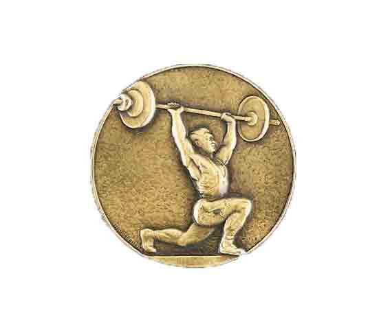 médaille 50mm haltérophilie medal 50mm weightlifting