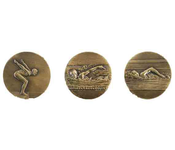 médaille 50mm natation medal 50mm swimming