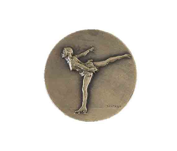 médaille 50mm patinage artistique medal 50mm ice skating