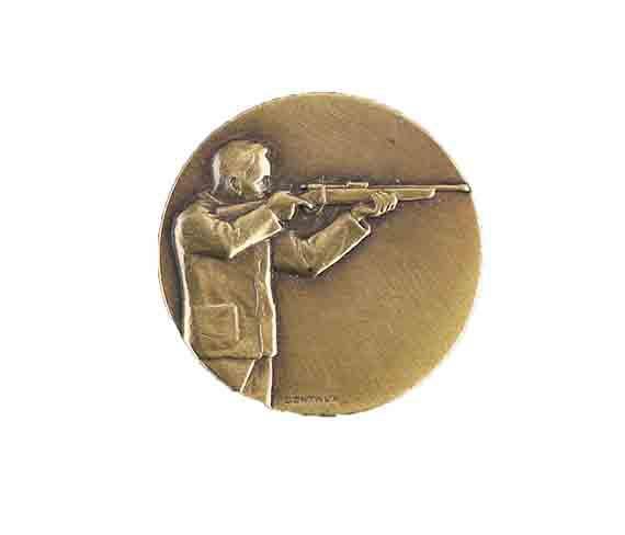 médaille 50mm tir medal 50mm shooting