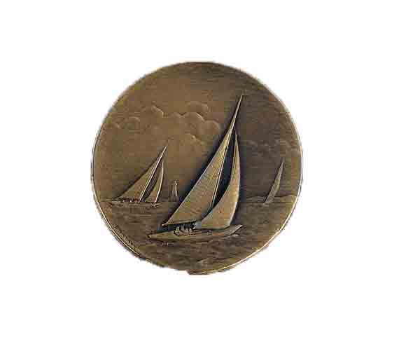 médaille 50mm voile medal 50mm sailing