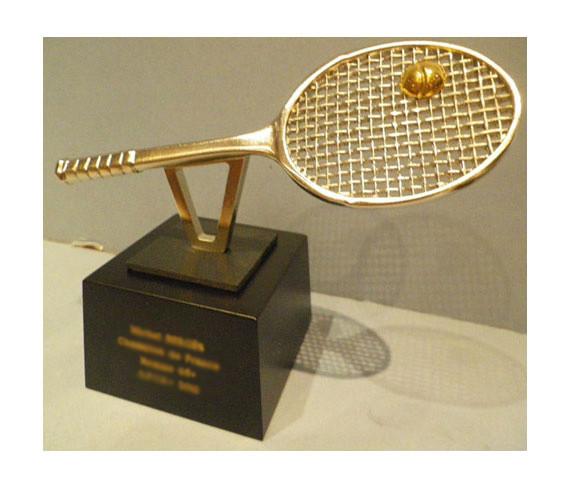 trophée raquette tennis tennis racket trophy